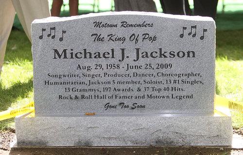 Here lies Michael Jackson's cash-crammed coffin.