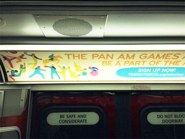 Pan Am Games subway ad