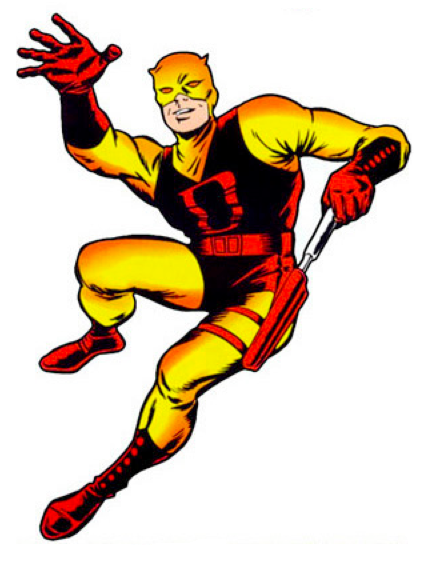 He's a blind guy with extrasensory abilities brought on by radioactive waste who dresses in spandex and fights crime. Let's play him straight.