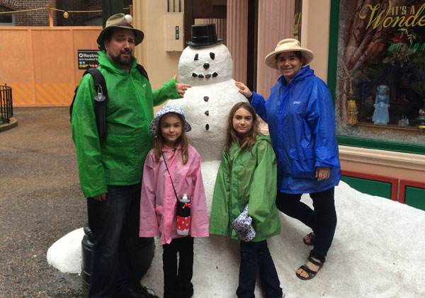 Our trip to Florida. Snowman unsimulated.
