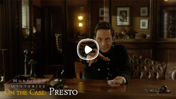 Murdoch Mysteries On the Case: Presto interactive detective mystery story Johnny Harris as Constable George Crabtree