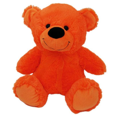 aggressively orange teddy bear