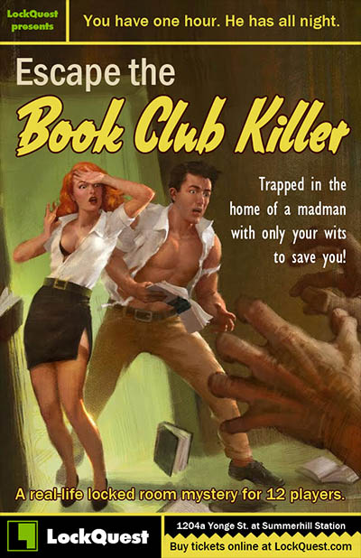 Escape the Book Club Killer escape room game by LockQuest